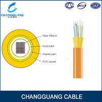 Indoor ribbon fibre cable multi mode GJFDV fiber optic cable equipment
