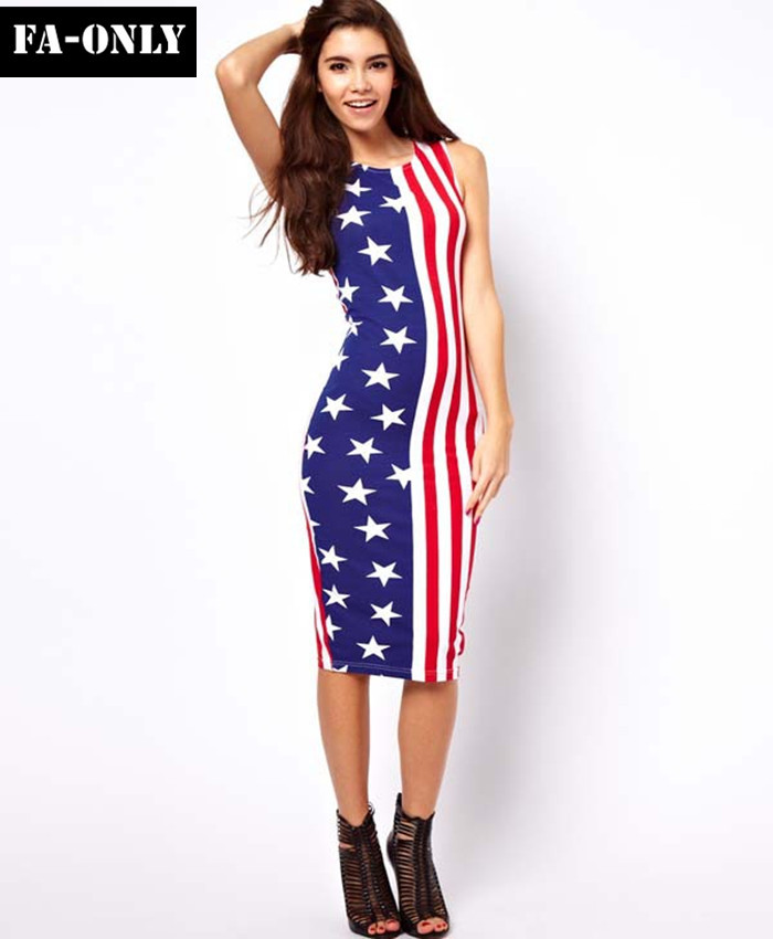 a6cadc6a10 High Quality American Flag Dresses For Women