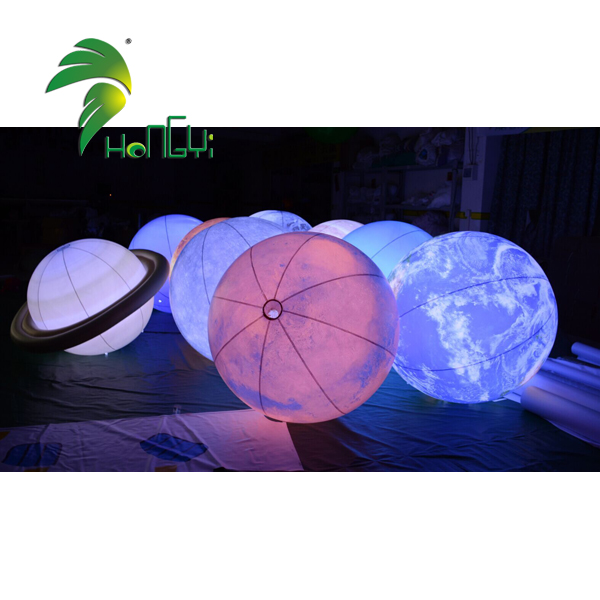 Amazing Hanging Decoration Inflatable Planets Solar System Lighting Ball