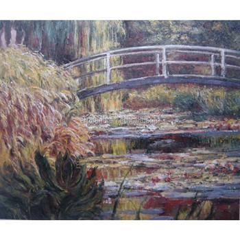 Handmade Claude Monet Reproduction Of Lotus Flower Oil Painting