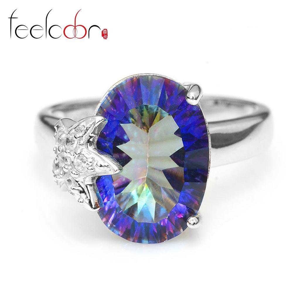 Aliexpress.com : Buy 6ct Blue Rainbow Blue Mystic Topaz