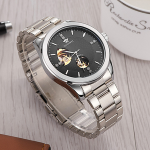Mens Luxury Brand 30M Waterproof Watches Automatic Mechanical Skeleton Private Label Wrist Watch