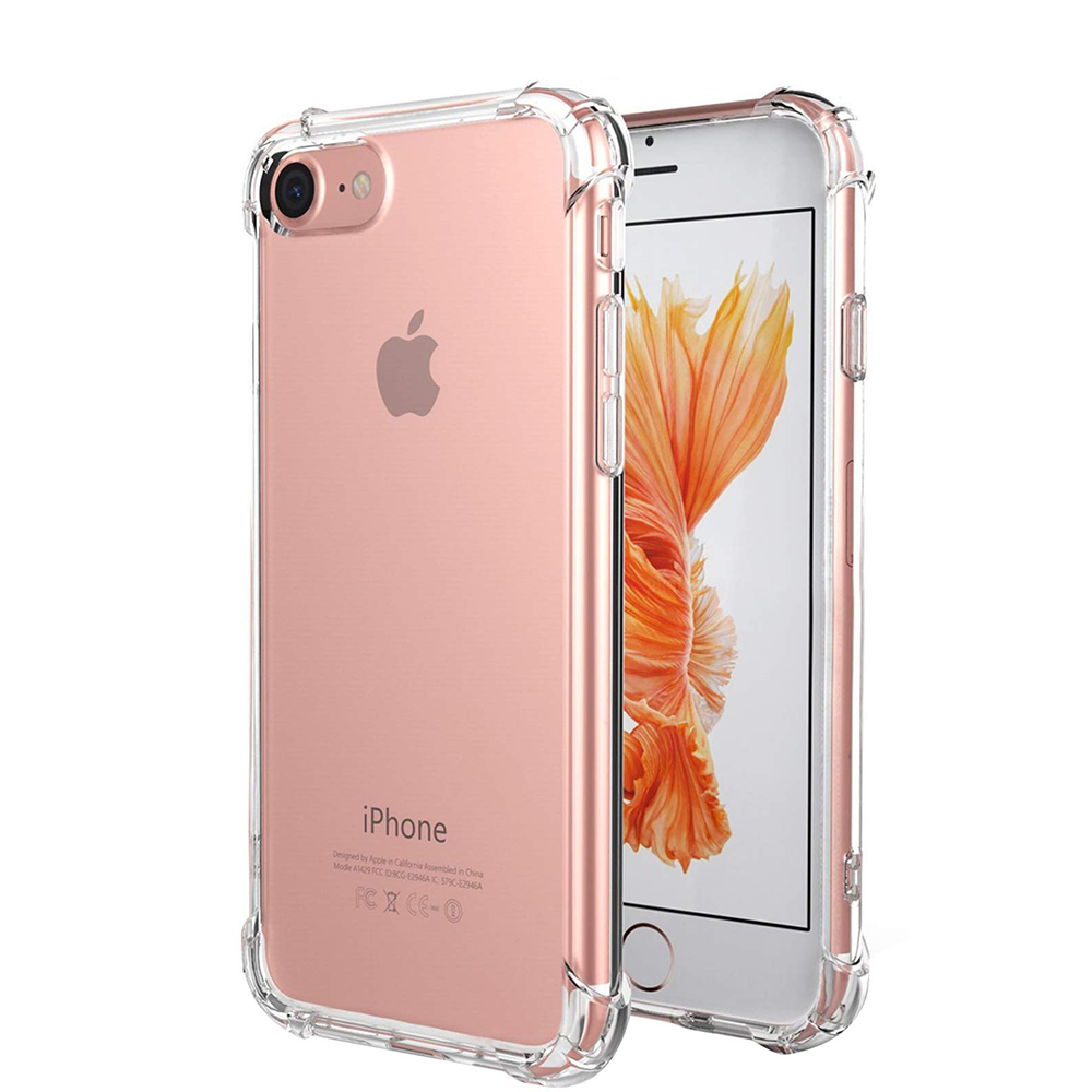 Crystal Clear TPU Case Mobile Back Cover For Iphone 8 Case TPU Phone Cover For Iphone 7 Case Shockproof Bumper
