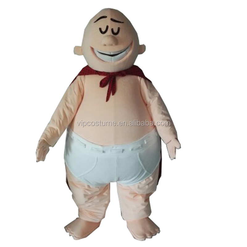 Captain Underpants Mascot Costume Adult Size Halloween Cosplay Costumes, As picture
