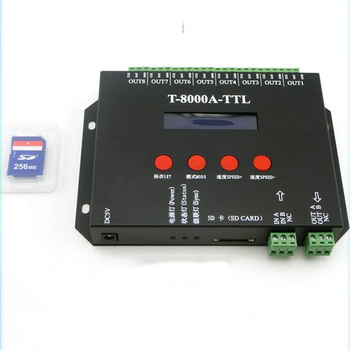 hot sell off-line SD card controller support ucs1903 sm16716 IC WS2801 WS2811 LDP6803 WS2812B pixels controller