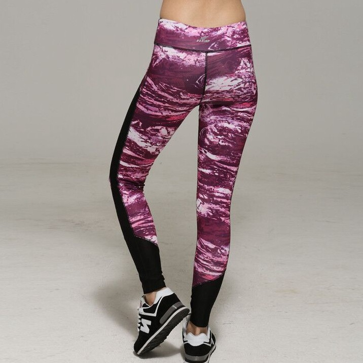 Women Digital Printing Breathable Splicing Fitness Yoga <strong>Sport</strong> Nine Points Legging