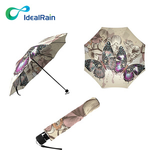Women Fashion Popular Mini Portable Travel Parasol butterfly print umbrella