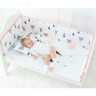 Muslin Tree 100%cotton bumper bed baby soft bedding set for baby crib