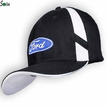 High quality Unisex 100% cotton metal buckle strap car logo black baseball hat