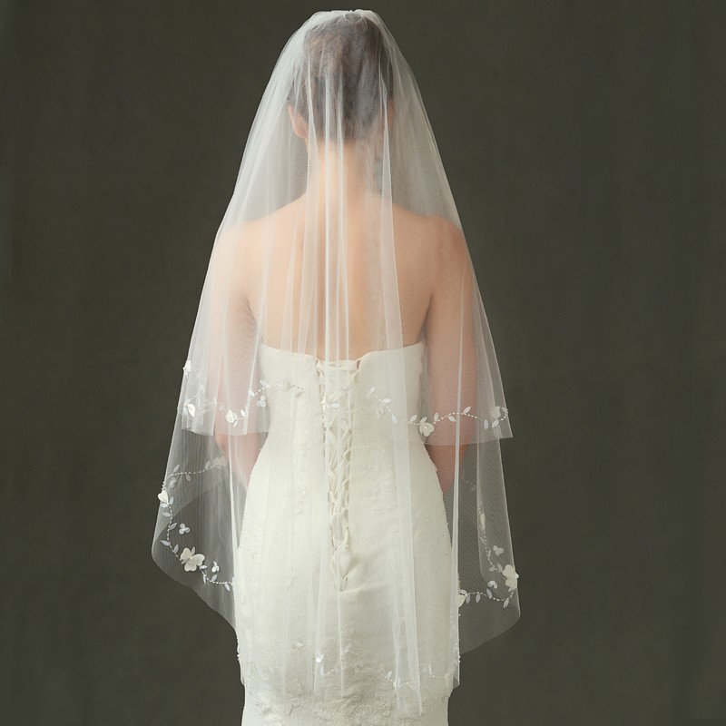 V1135W1-1 Elegant bridal veil wedding veil