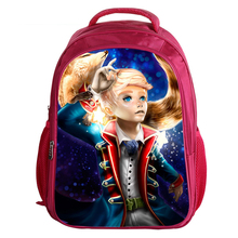 China printing polyester kids children backpack school bags with cartoon