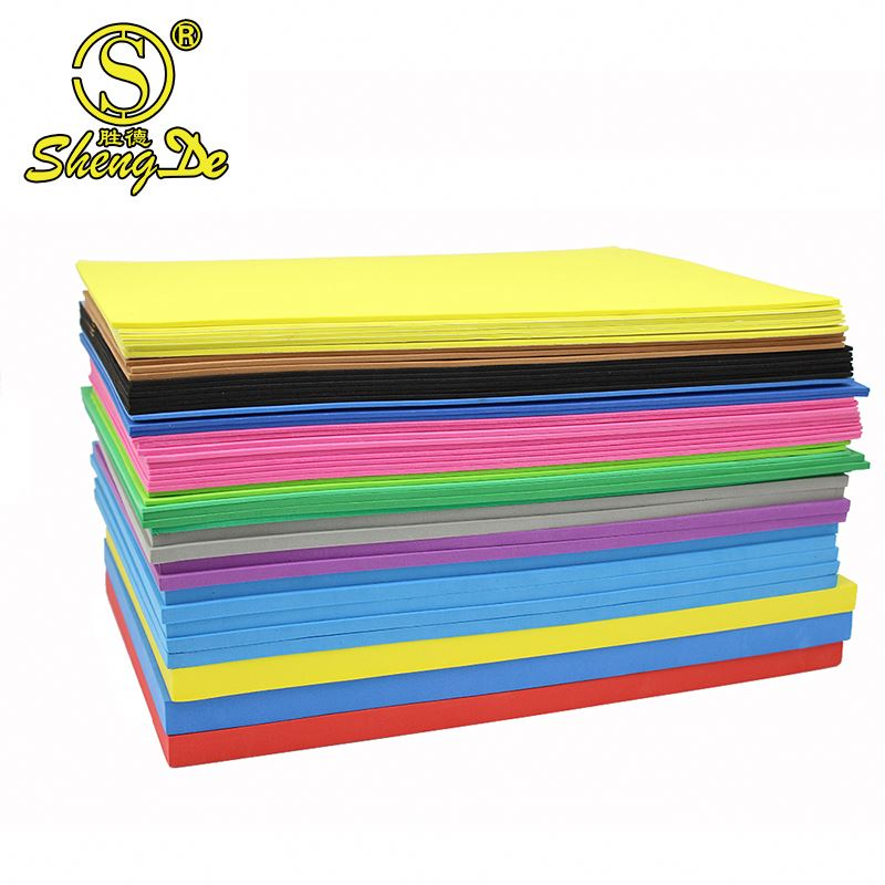 eva flock foam/flock paper/eva paper supplier