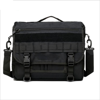 d44736b82 Black khaki men polyester coated PVC military office fireproof laptop  shoulder document bag for army