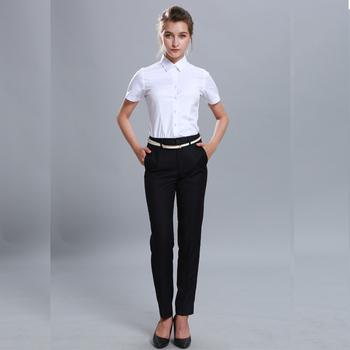 Slim Casual Elegante Blanco Negocios Camisas De Vestir Para Dama Buy Camisas Informales Elegantes Ajustadas Para Mujercamisas Blancascamisa De