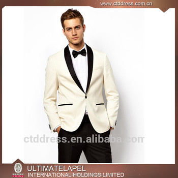 Custom White Coat Black Pants Fashion Wedding Suits For Men Buy