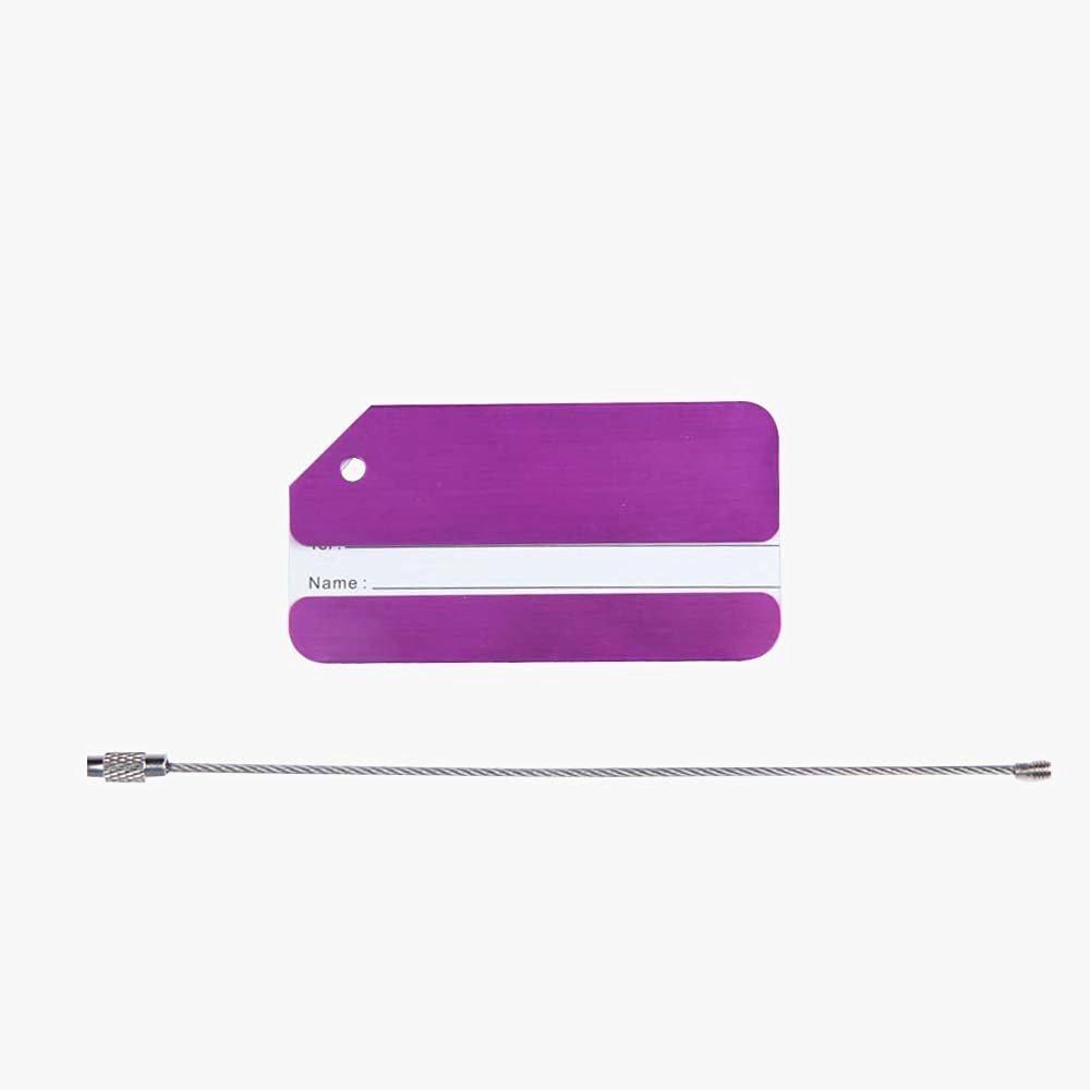 FENICAL Travel Luggage Tag Baggage Handbag Tag (Purple)