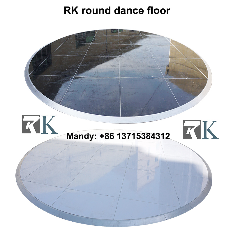 RK hoge kwaliteit custom wedding gloss wit spoor dance floor