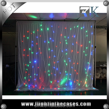4m x 2m LED Star Cloth with White Drape
