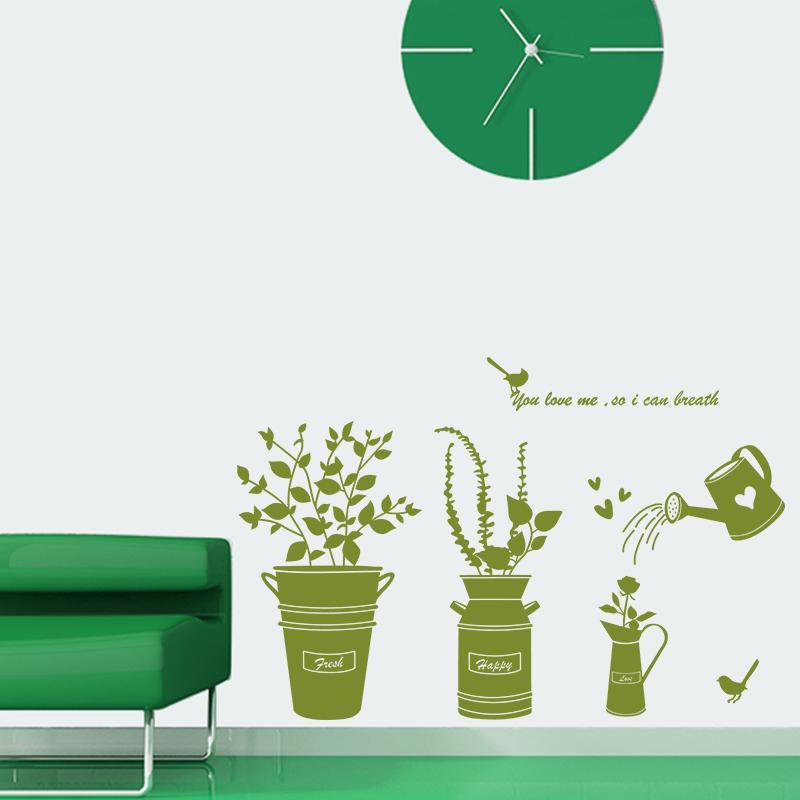 autocollant plantes promotion achetez des autocollant plantes promotionnels sur. Black Bedroom Furniture Sets. Home Design Ideas