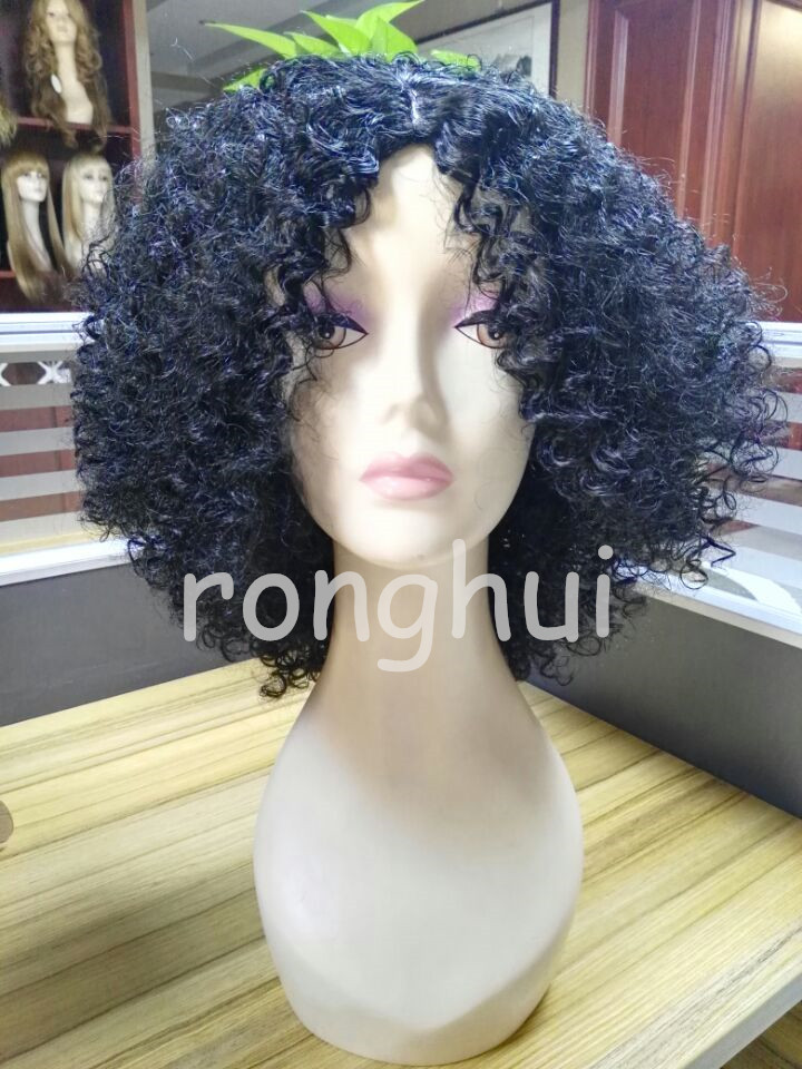2016 New style product In Stock color 1 Afro Wave Synthetic Hair Wig
