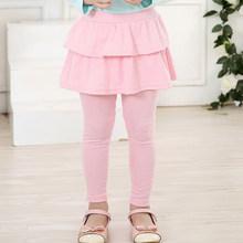 Осенне-зимняя плотная теплая одежда, юбка-брюки для маленьких девочек 3-12 лет, серые/черные/красные/розовые танцевальные брюки ярких цветов, ...(Китай)