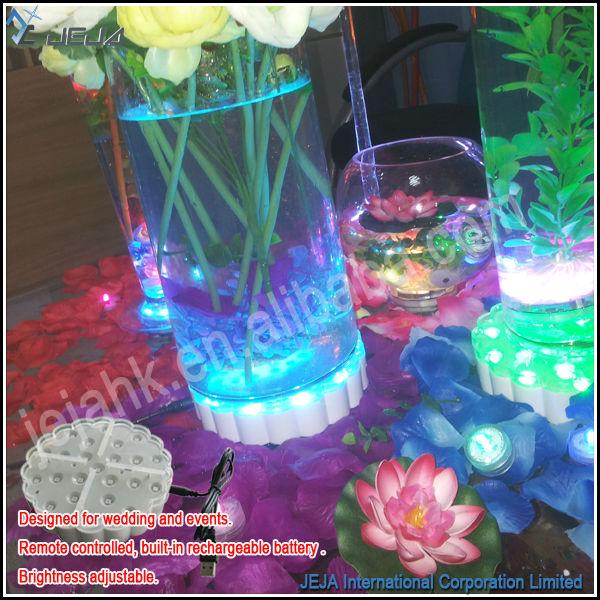 Decoraci n florero de cristal led iluminado alto centros - Decoracion jarrones cristal ...