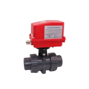 pvc motorized valve motor PVC valves electric water valve flow control for Water equipment,auto-control water system
