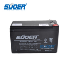 Suoer Rechargeable Maintenance Free Storage Battery 7AH 12V battery Lead Acid Storage