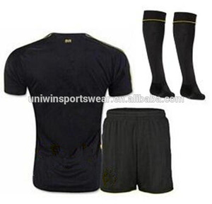 9f6276a367b Best quality 2017 Away black soccer Jersey Kits print name logo number