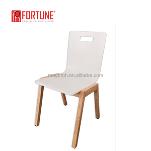 High quality custom made restaurant bentwood chair shell with solid wood leg