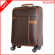 pu business leather travel luggage trolley bag soft suitcase