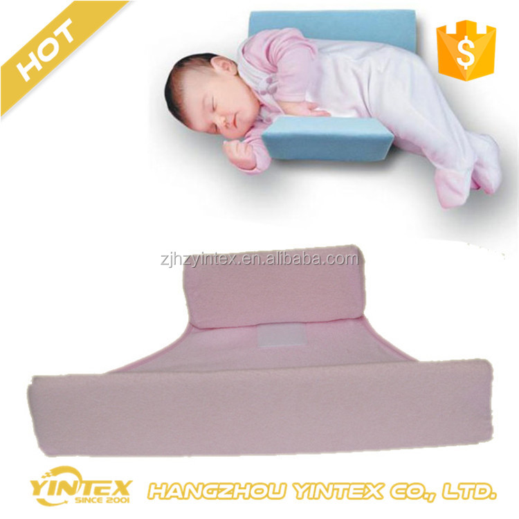 Anti Roll baby sleeping bed wedge 100% cotton memory foam pillow