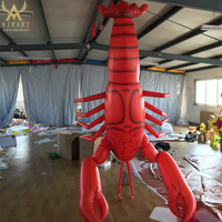 outdoor advertisement inflatable lobster
