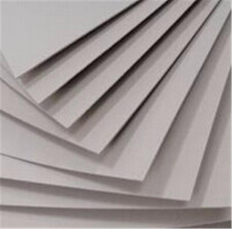 Laminated grey chip board buy black