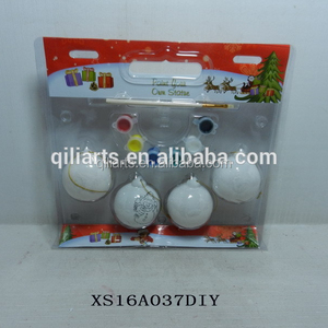 Diy X Mas Unpainted Ceramic Christmas Tree Ornaments