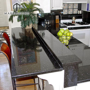 new modern granite table top black galaxy granite dining table & New Modern Granite Table Top Black Galaxy Granite Dining Table - Buy ...