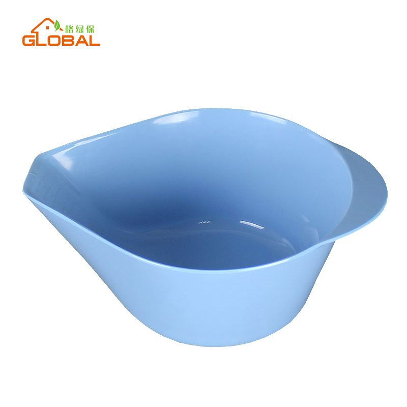 Premium multi-color melamine mixing bowl, plastic cup with one ear/ spout