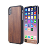 luxury pc+wooden phone case for iphone X case