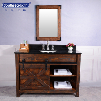NHTW-21-48F 48u0026quot; classical Fir wooden bathroom vanity cabinet & NHTW-21-48F 48