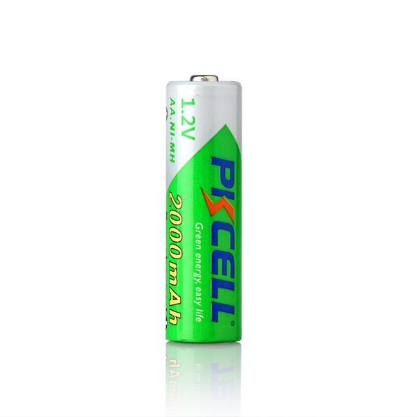 precharged 2000 mah high capacity 1.2v rechargeable nimh aa battery cell