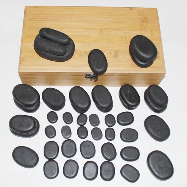 Cerato polished black beauty hot stone massage set
