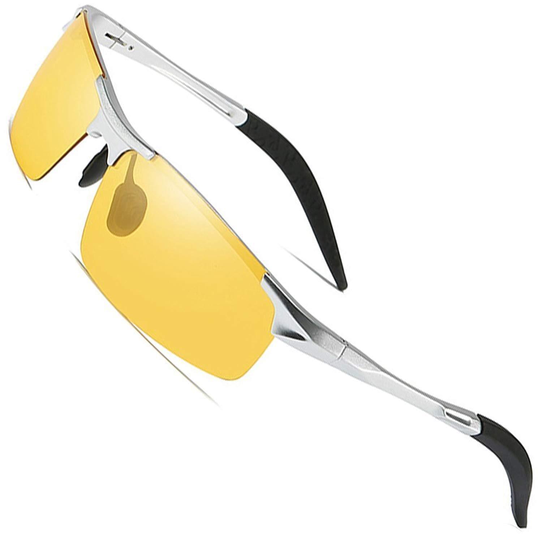 3225a411c9e Get Quotations · MOTELAN Night Driving Photochromic Polarized Glasses for  Men Women Anti Glare Safety UV400 HD Vision Sunglasses