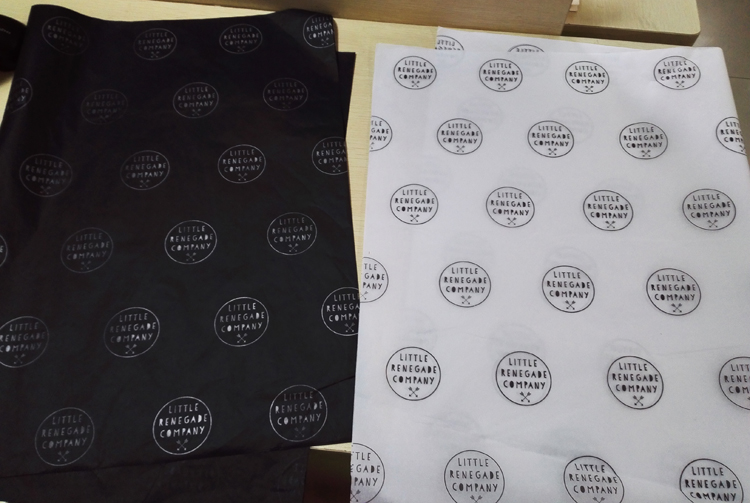 Custom printed brand names black colored cheap soft clothing tissue paper with logo