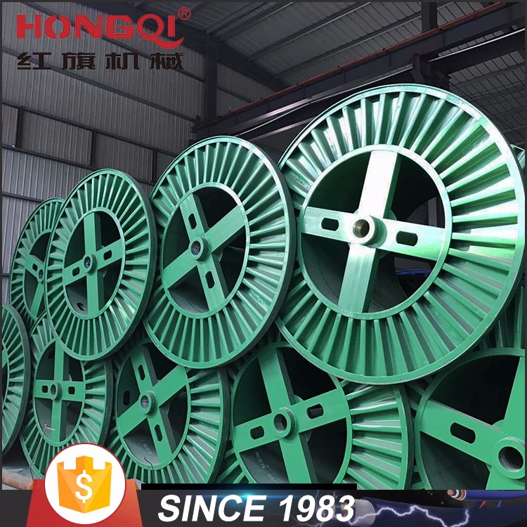 Empty corrugated steel reel cable spool drum for electrical cable drum