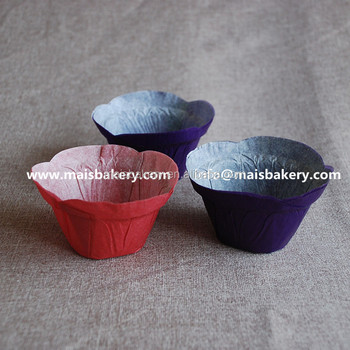 FDA Europe paper purple tulip lotus muffin baking cups