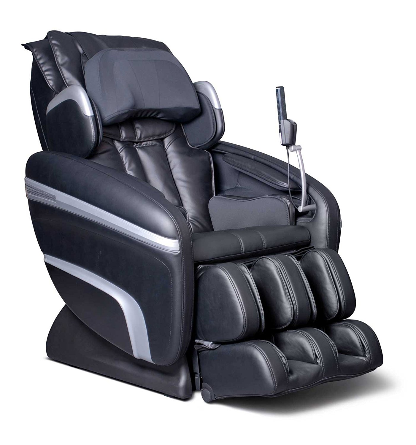 Osaki OS-6000A Deluxe ZERO GRAVITY Massage Chair, Black, Synthetic Leather, Designed with a set of S-track movable intelligent massage robot , special focus on the neck, shoulder and lumbar massage according to body curve, Automatically detect the whole body curve as well as make micro adjustments,