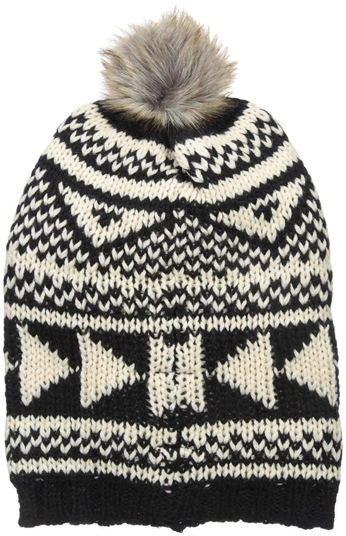 Get Quotations · Woolrich Women s Geometric Slouchy Hat 349d5b7ca5d