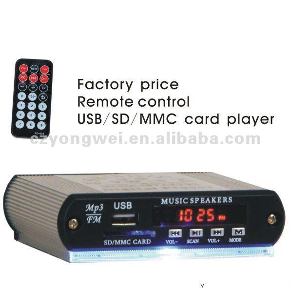12v Mini Car Audio Amplifier Mp3 Player Yw-5 Usb/sd Dc12v