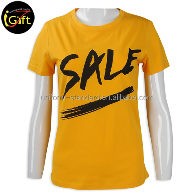 BSCI iGift own print promotional brand printed t-shirt