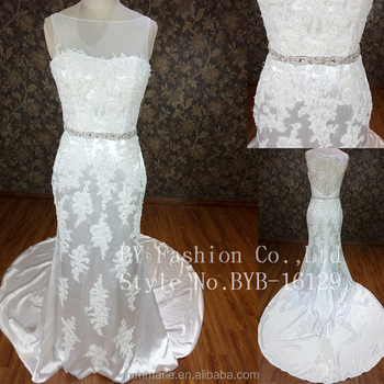 Best Selling Picture Of Latest Gown Designs Lace Wedding Dress ...